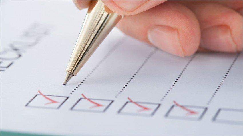 چک لیست انتخاب دامنه