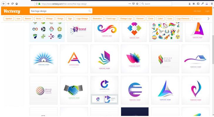 طراحی لگو رایگان با وب سایت vecteezy.com