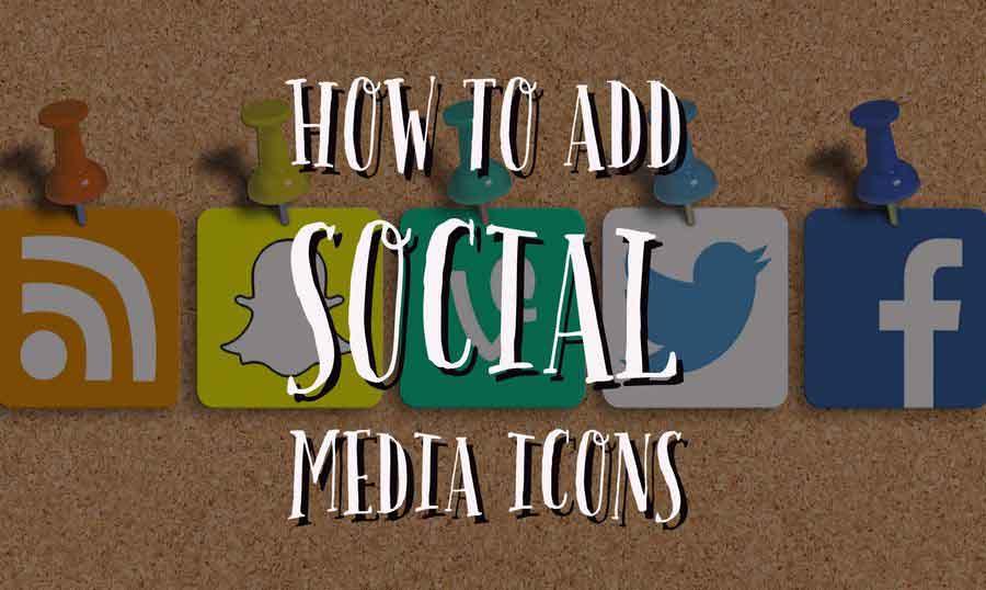 قرار دادن لینک شبکه های اجتماعی در فوتر