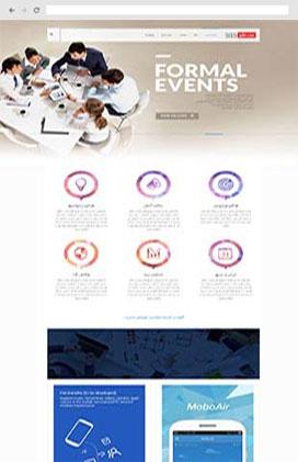 قالب سایت رویداد و همایش